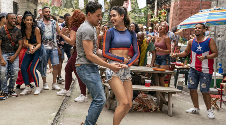 """Anthony Ramos as Usnavi and Melissa Barrera as Vanessa in """"In The Heights"""""""